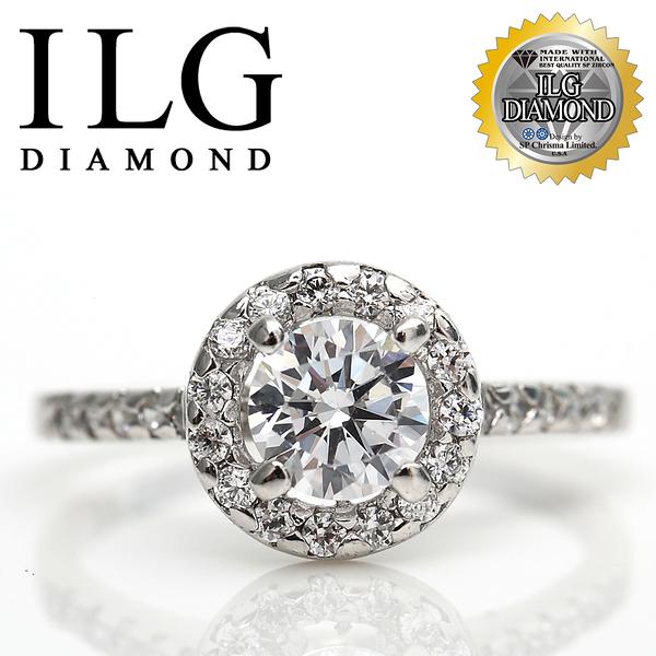 【ILG鑽】頂級八心八箭擬真鑽石戒指-巴黎名款 主鑽1克拉 珠寶店指定名品款送禮首選 RI008