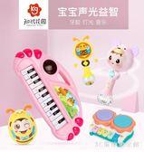 電子琴兒童多功能電子琴寶寶早教音樂玩具 0-1-2-3歲男女孩嬰幼兒小鋼琴 LH3649【3C環球數位館】