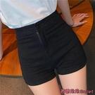 牛仔短褲 春夏新款彈力打底牛仔短褲女高腰修身顯瘦緊身熱褲外穿-Ballet朵朵