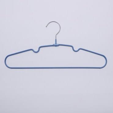 HOLA典雅防滑衣架10入 藍