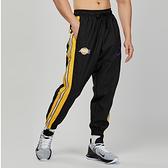 Nike AS LAL M TRACKSUIT PANT CRTSD 男子 黑黃 湖人 刺繡 長褲 CN5613-010