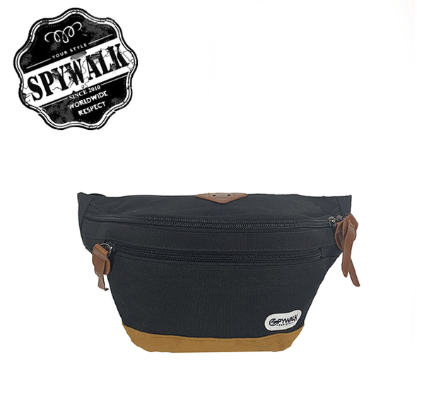 SPYWALK  豬鼻素色寬腰包 NO:2491