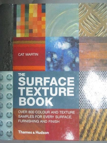 【書寶二手書T7/設計_KIN】The Surface Texture Book_MARTIN, CAT