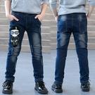 童裝男童牛仔褲春秋新款春裝兒童韓版中大童洋氣小腳褲子潮童