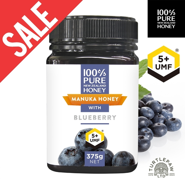 外包裝不全【紐西蘭恩賜】藍莓麥蘆卡蜂蜜UMF5+1瓶(375公克) 效期2021/11
