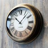 歐式懷舊復古掛鐘客廳臥室時鐘時尚創意鐘石英鐘掛表墻鐘WY【七夕情人節】