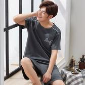 睡衣男夏季純棉短袖短褲薄款夏天男士睡衣