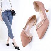 現貨2019新款韓版女鞋尖頭淺口鞋貓跟粉色少女單鞋女小清新高跟鞋網紅 高跟鞋