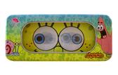 【卡漫城】 海綿寶寶 鉛筆盒 開窗設計 眼睛 藍色 ㊣版 鐵盒 派大星 Spongebob 雙層 鐵筆盒