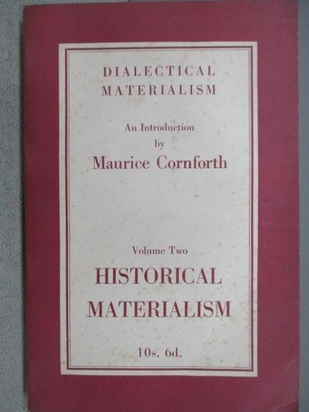 【書寶二手書T1/原文小說_MOI】Dialectical Materialism_Maurice Cornforth