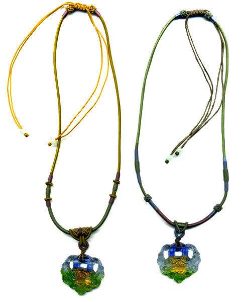 鹿港窯~居家開運水晶琉璃項鍊~福在眼前 附精美包裝  ◆免運費送到家