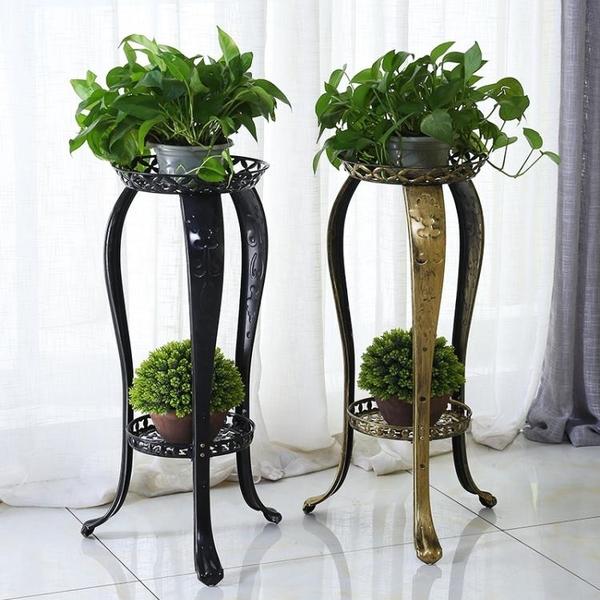 歐式花架鐵藝多層室內特價綠蘿花架子客廳落地陽臺吊蘭家用地面