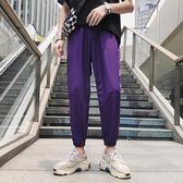 褲子  夏季歐美hiphop寬鬆束腳褲子男潮牌情侶嘻哈運動褲INS超火的褲子 芭蕾朵朵