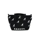 KANGOL 帆布側背袋 大容量 黑色 滿版印花 6025300720 noA63