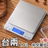 【送二種托盤】藍光螢幕 不鏽鋼電子秤 (台兩 公克 盎司 克拉 計數 料理秤 咖啡秤)