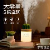 仙人掌usb加濕器夜燈家用靜音臥室迷你可愛便攜式桌面辦公室小型空氣