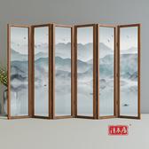 屏風屏風隔斷牆遮擋家用裝飾中式客廳臥室辦公室酒店餐廳實木行動折疊【快速出貨八折搶購】