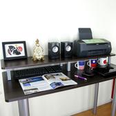 【頂堅】桌上型置物架/螢幕架-深30x寬120x高12.5公分-二色深胡桃木色