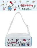 車之嚴選 cars_go 汽車用品【PKTD010B-03】Hello Kitty 女孩日常系列 面紙盒套袋(可吊掛車內頭枕)
