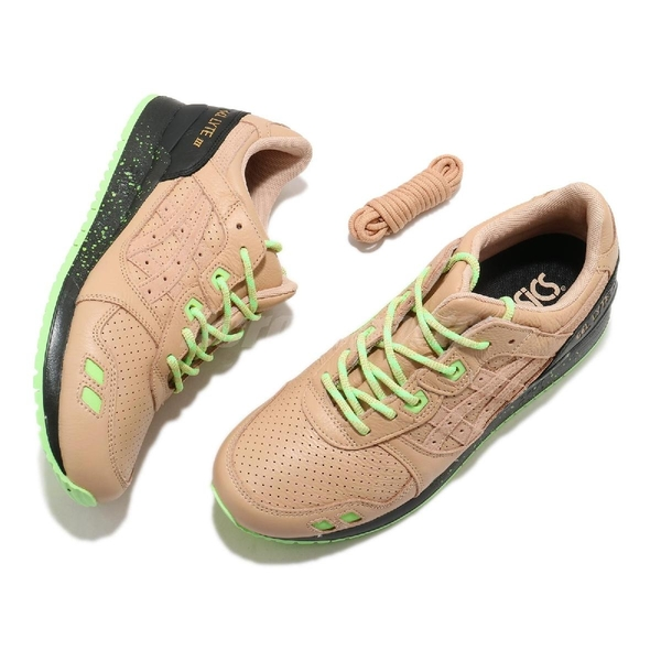 Asics 休閒鞋 Gel-Lyte III X Sneaker Freaker 卡其 綠 男鞋 聯名款 復古慢跑鞋 【ACS】 1191A009200
