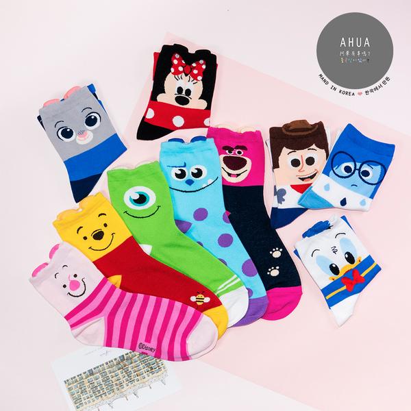 現貨✶正韓直送【K0213】韓國襪子 迪士尼耳朵中筒襪 韓妞必備 百搭基本款 素色襪  阿華有事嗎
