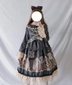 日系洋裝洛麗塔lolita荷葉領連身裙【步行者戶外生活館】
