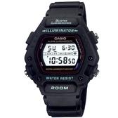 CASIO EL冷光照明酷炫電子錶-黑(DW-290-1)
