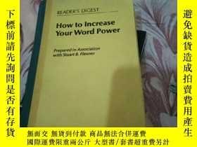 二手書博民逛書店how罕見to lncrease your word power