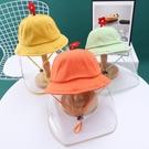 兒童防飛沫嬰兒帽子春秋男女童防護帽燈太陽帽夏天寶寶1-5漁夫帽 百分百