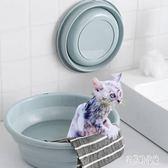 貓咪洗澡盆泡澡桶貓洗澡專用盆可折疊寵物貓澡盆浴盆浴桶洗貓桶IP4083【宅男時代城】