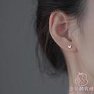 純銀耳釘簡約小巧耳環耳洞耳飾女【少女顏究院】