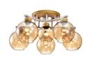 【燈王的店】北歐風 半吸頂5+1燈 客廳燈 餐廳燈 吧檯燈 301-98219-2