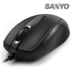 SANYO 三洋 M17 超手感USB有線光學滑鼠 黑色