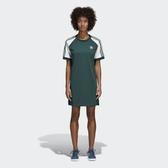 ISNEAKERS adidas Originals 愛迪達 三葉草 綠色 綠白 三條 ce4963 短袖 連身裙 洋裝 長版