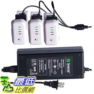 [美國直購] Smatree SmaPow 電池用 充電器 3-Channel Battery Charger for DJI Phantom 2 Vision /2 Plus Quadcopter