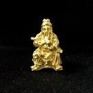關聖帝君 2.6公分 佛像法像-金黃色...