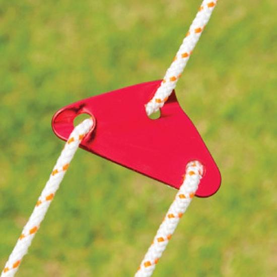 露營配件 固定扣 掛扣  天幕 繩子 防風止滑  鋁合金三角鋁繩扣(單入-小) ◄ 生活家精品 ►【P533】
