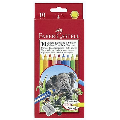 Faber-Castell大六角粗筆蕊6.0mm 彩色鉛筆 10色 *111610