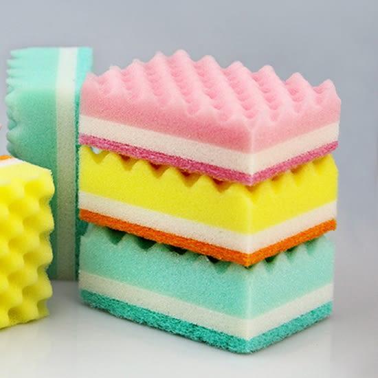 廚房清潔 海綿擦 洗鍋刷 海綿刷 清潔刷 餐具 泡沫 波浪海綿菜瓜布✭慢思行✭【L52-1】