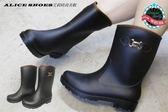 ALICE SHOES艾莉時尚美鞋 秋冬新款格性素雅低跟雨靴@J-269@800免運費@MIT台灣製造
