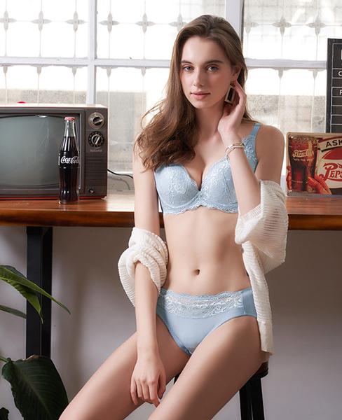 EASY SHOP-微醺開運 美背款A-D罩內衣(灰戀藍)