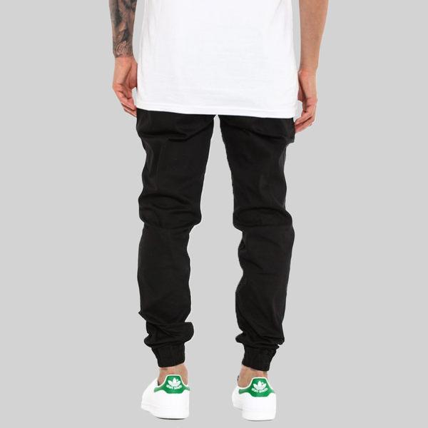 【GT】FairPlay Runner Jogger 黑 縮口褲 修身 休閒 運動 素色 抽繩 棉質 彈性 長褲 束口褲 工作褲
