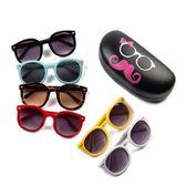 韓版男女兒童眼鏡個性菱形墨鏡寶寶舒適太陽鏡防紫外線可愛蛤蟆鏡【米蘭街頭】