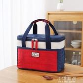 上班族帶飯的飯盒袋子便當袋手提包保溫袋大號大容量鋁箔隔熱加厚『小淇嚴選』