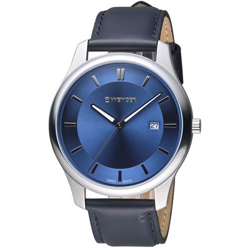 瑞士WENGER City 城市系列 經典簡約紳士腕錶 01.1441.118