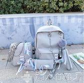 後背包古著感少女書包超火後背包女2019新款韓版大容量高中學生背包 【多變搭配】