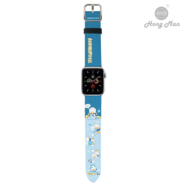 三麗鷗系列 Apple Watch 皮革錶帶 貝克鴨 (銀)
