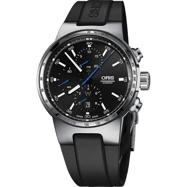 ORIS 豪利時 Willimas F1賽車系列計時機械錶-黑/44mm 0177477174154-0742450