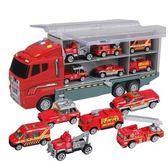 大號兒童貨柜玩具車組合男孩合金車消防車小汽車套裝工程車挖掘機igo『韓女王』