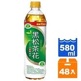 黑松 茶花綠茶(無糖) 580ml (24入)x2箱【康鄰超市】